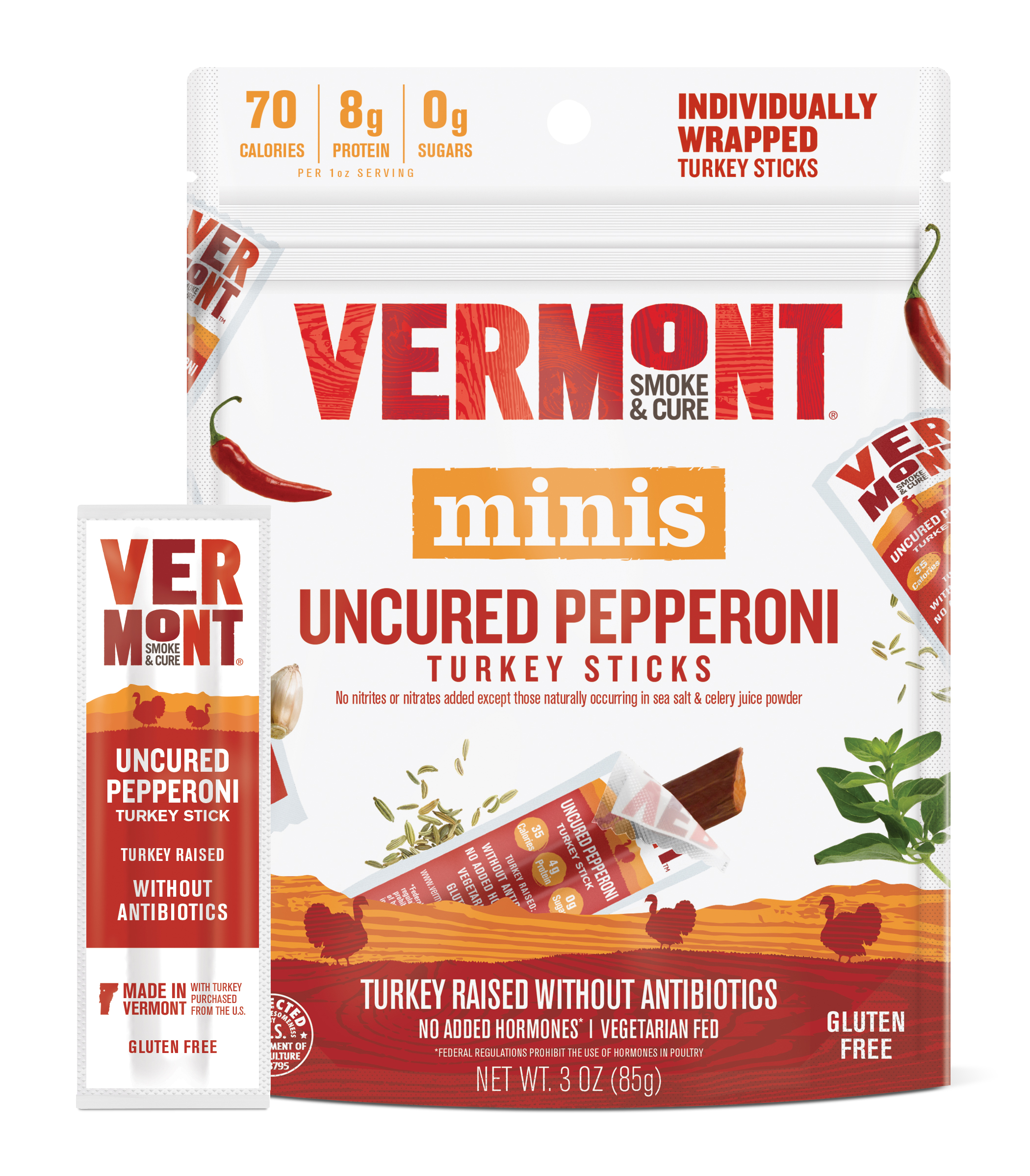 Uncured Pepperoni Turkey Meat Sticks Vermont Smoke Amp Cure 174