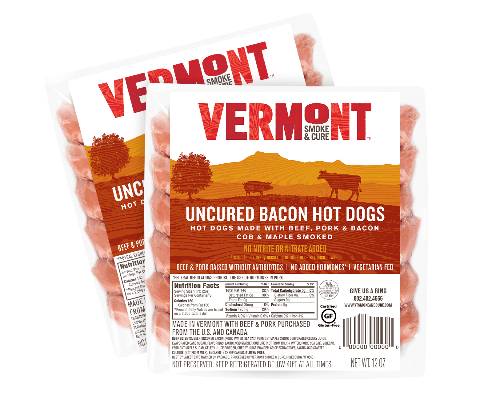 Vermont Smoke And Cure Bacon Hot Dogs
