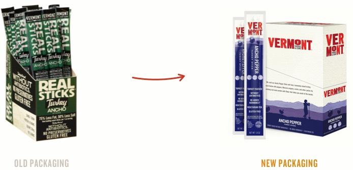Vermont Smoke & Cure Real Sticks Meat Sticks Ancho Turkey