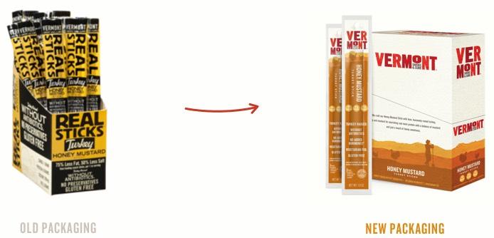 Vermont Smoke & Cure Real Sticks Meat Sticks Honey Mustard