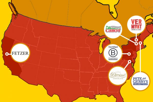 B-Corp Brands on a map