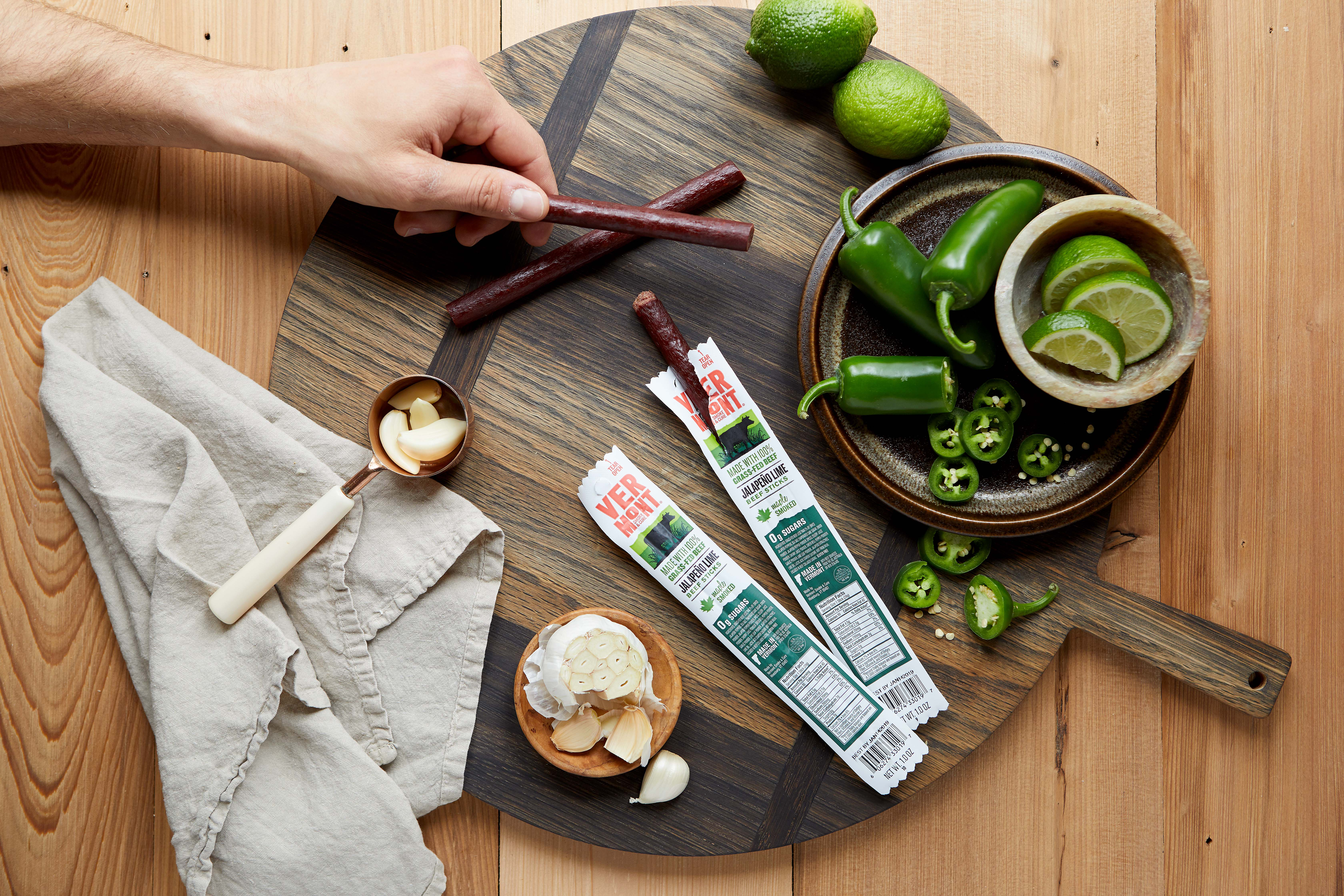 Vermont Smoke & Cure Grass-Fed Jalapeño Lime Beef Sticks