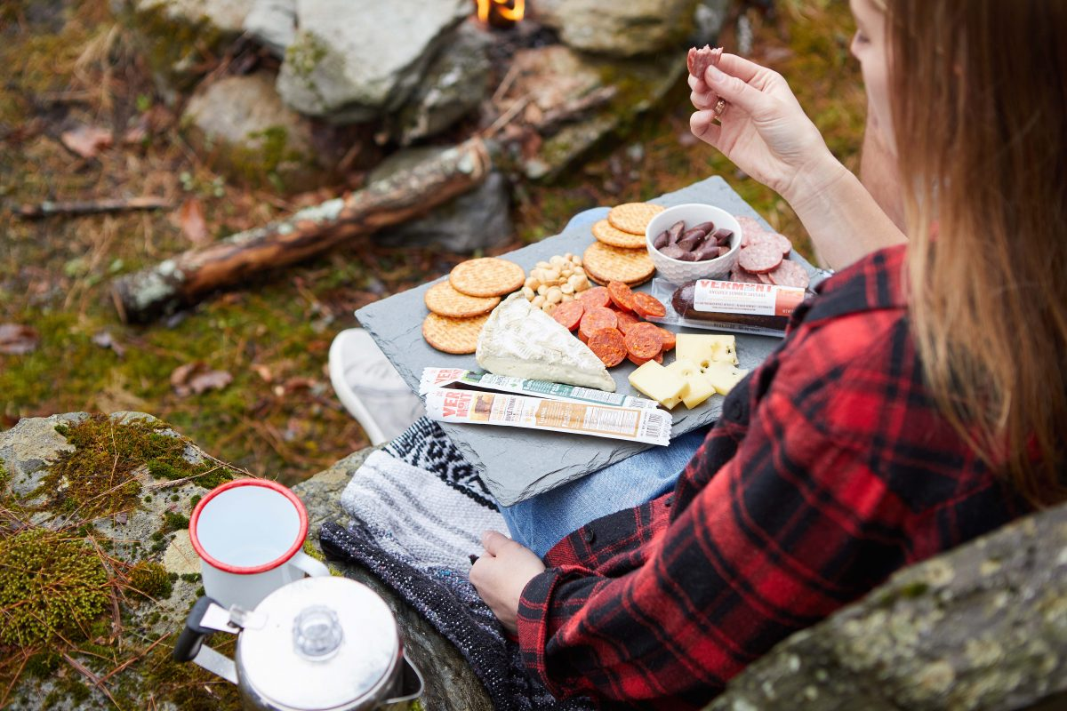 vermont smoke & cure family camping charcuterie platter